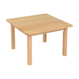 Square Table Solid Beech 690mm
