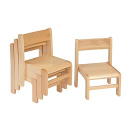 21cm Beech Stacking Chairs (4 Pack)