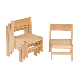 31cm Beech Stacking Chairs (4 Pack)