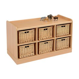 6 Deep Horiz SSS Unit with Wicker Baskets