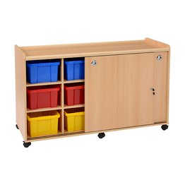 12 Deep SSS Unit with Coloured Trays & Doors
