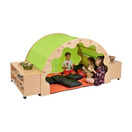 Play Pod & Canopy, 2 Sets of Curtains, 6 Scatter Cushions, Large Mat & 2 Bookcases
