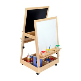 Double Reversible Adjustable Mobile Easel