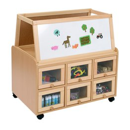 DS Unit With Doors and Dry Wipe Magnetic Easel