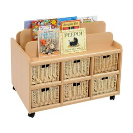 Book Display Unit/Storage With Deep Baskets