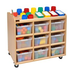 Mobile Art Resources Trolley with 24 Trays