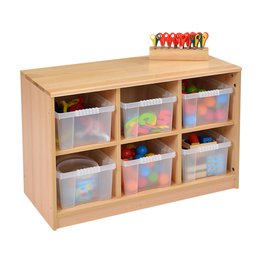 RS 6 Tray Storage Unit Including Trays