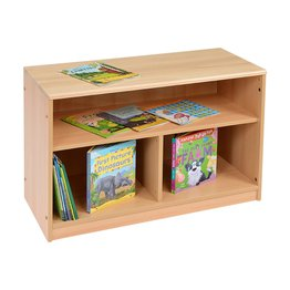 RS Open Bookcase with Solid Back