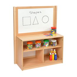 RS Open Bookcase with Inset Panel and Drywipe/Mirror Divider