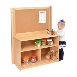 RS Open Bookcase with Solid Back and Cork Divider