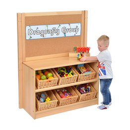 RS Angled Tidy Store with Baskets and Cork Divider