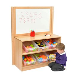 RS Angled Tidy Store with Trays and Drywipe/Mirror Divider