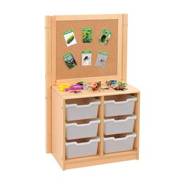 RS 2 Bay A4 6 Deep Clear Tray Unit and Cork/Drywipe Divider
