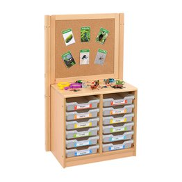 RS 2 Bay A4 12 Shallow Clear Tray Unit and Cork/Drywipe Divider