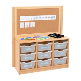 RS 3 Bay A4 9 Deep Clear Tray Unit and Cork/Drywipe Divider
