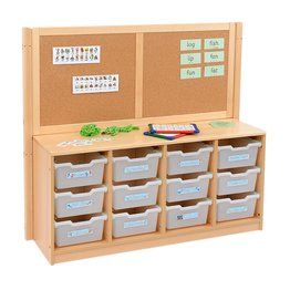 RS 4 Bay A4 12 Deep Clear Tray Unit and Cork/Drywipe Divider