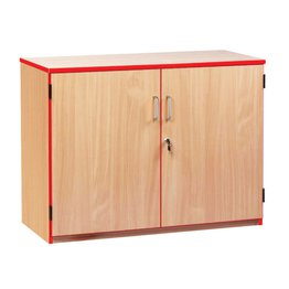 Coloured Edge Cupboard 750H (Red)