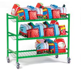 Large Metal Lunch Box Trolley