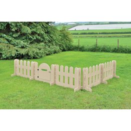 Outdoor Fence Panel and Gate Set
