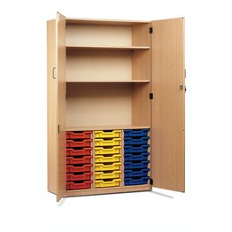 21 Shallow Tray Cupboard With Two Shelves