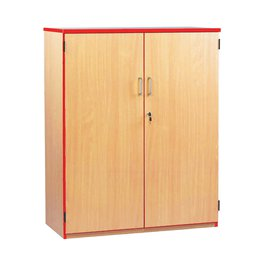 Coloured Edge Cupboard 1250H (Red)