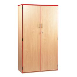 Coloured Edge Cupboard 1800H (Red)