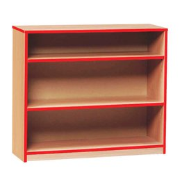 Coloured Edge Bookcase 750H (Red)