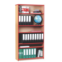 Coloured Edge Bookcase 1800H (Red)
