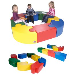 Magic Puzzle Seating Set 3 Primary Colours(8 Pieces)