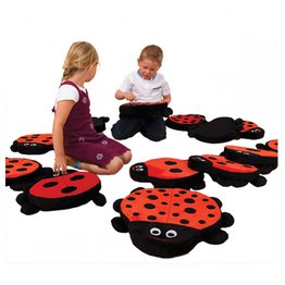 Back To Nature Counting Ladybird Cushions (13 Pack)
