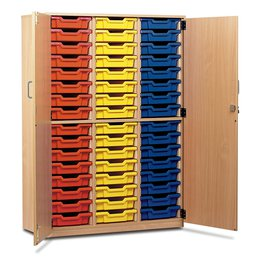 48 Shallow Tray Cupboard With Locking Doors