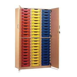 60 Shallow Tray Cupboard With Locking Doors