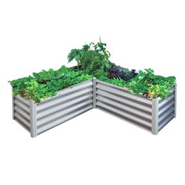 Birdies 6 In 1 L Shape Cream Garden Bed