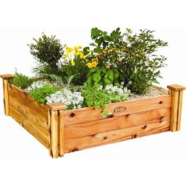 Birdies Raised Wooden Garden Bed